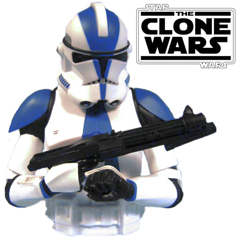 Cofre Star Wars - Commander Appo ( CC-1119 ) Clone Wars Bust Bank Diamond Select Toys