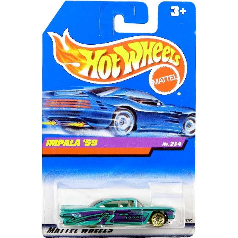 Coleção 1997 Hot Wheels Impala 59 estilo Lowrider series 2/4 18780 escala 1/64