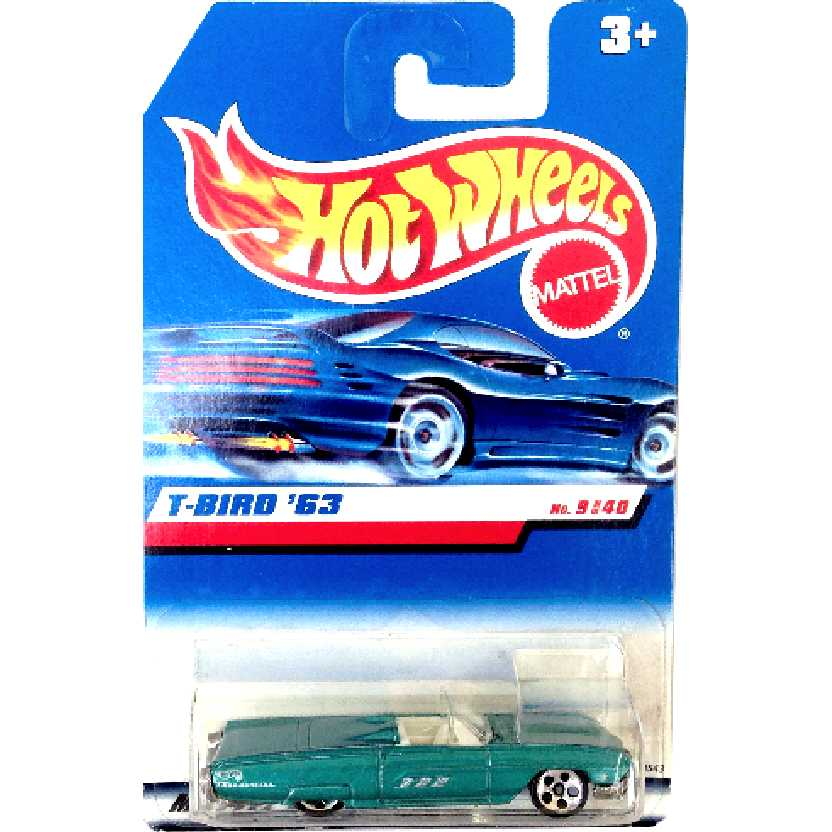 Coleção 1998 Hot Wheels 1963 Ford Thunderbird T-Bird 63 series 9/40 18543 escala 1/64