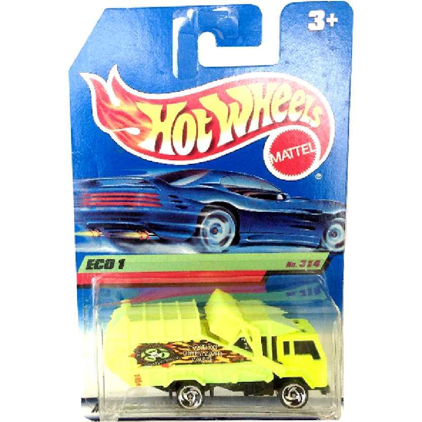 Coleção 1998 Hot Wheels Caminhão ECO 1 Recycling Truck series 3/4 18785 escala 1/64