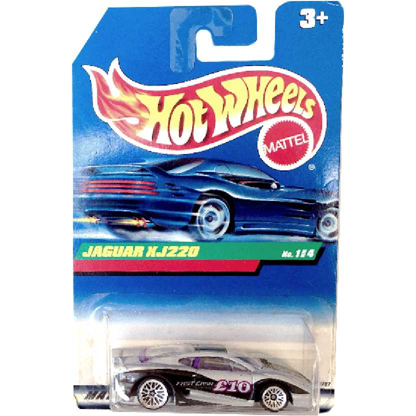 Coleção 1998 Hot Wheels Jaguar XJ220 series 1/4 18787 escala 1/64