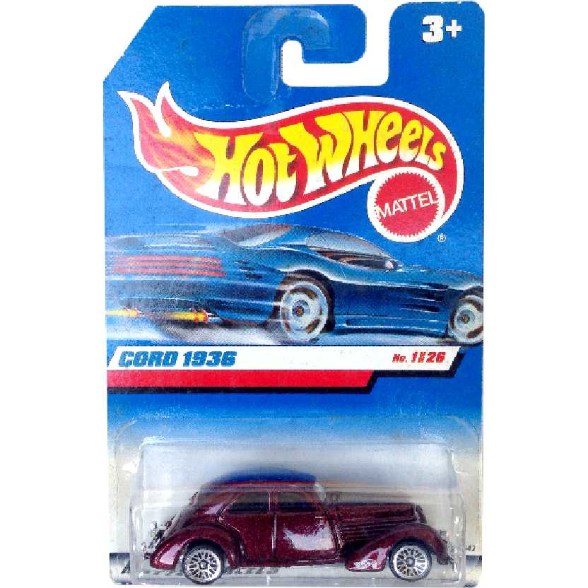 Coleção 1999 Hot Wheels Cord 1936 series 1/26 19642 escala 1/64