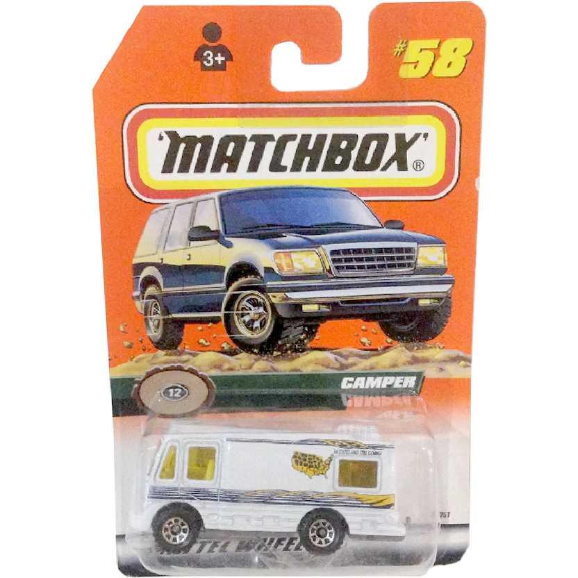 Coleção 1999 Matchbox Camper 12 #58 36257 escala 1/64