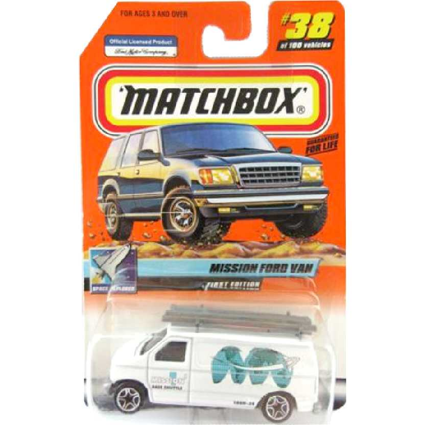 Coleção 1999 Matchbox Mission Ford Van Base Shutle #38 96325 escala 1/64