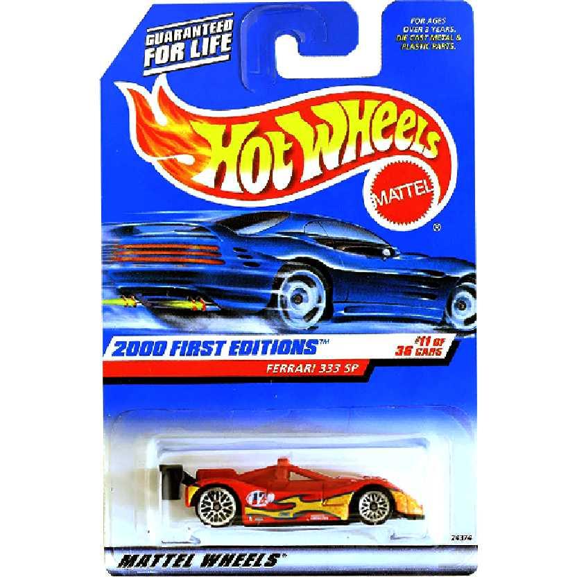 Coleção 2000 Hot Wheels Ferrari 333 SP vermelho series 11/36 24374 escala 1/64