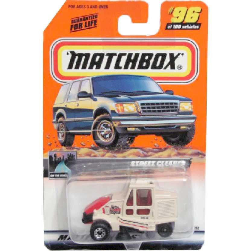 Coleção 2000 Matchbox Street Cleaner (Limpador de rua) 96/100 96392 escala 1/64