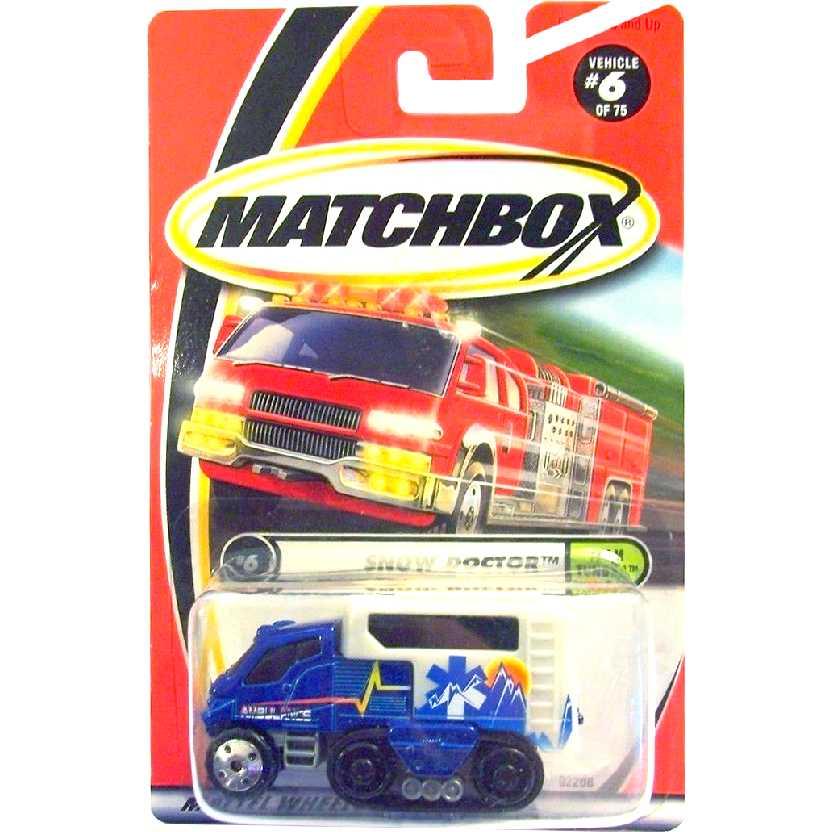 Coleção 2001 Matchbox Snow Doctor azul series 6/75 92208 escala 1/64