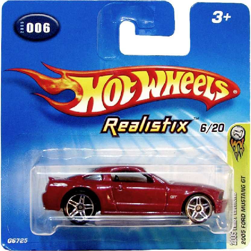 Coleção 2005 Hot Wheels 2005 Ford Mustang GT series #006 6/20 G6725 escala 1/64