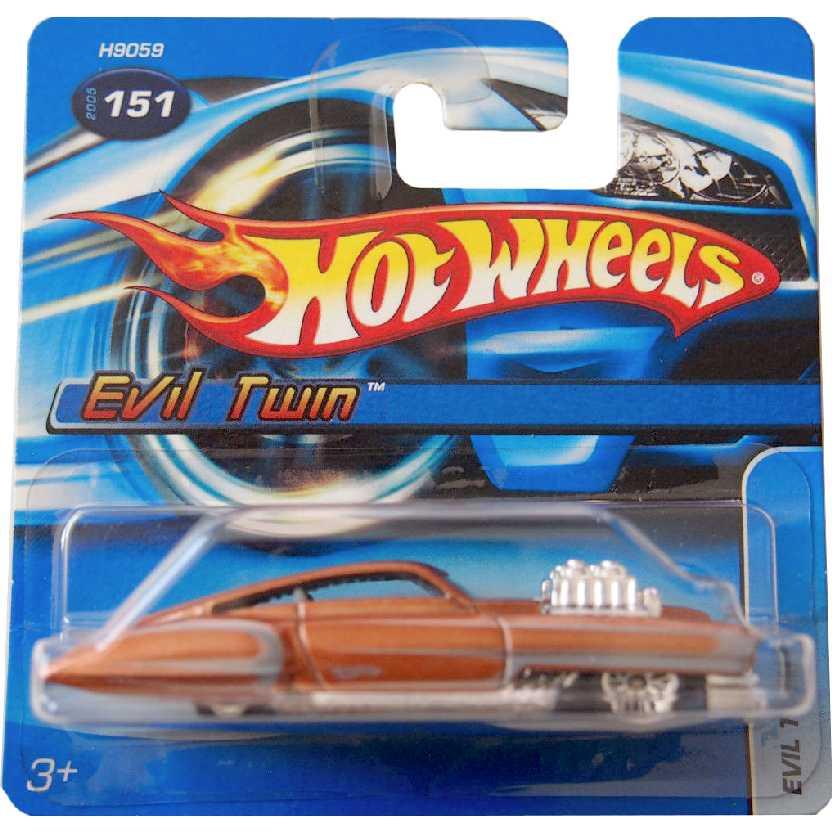 Coleção 2005 Hot Wheels Evil Twin #151 H9059 escala 1/64