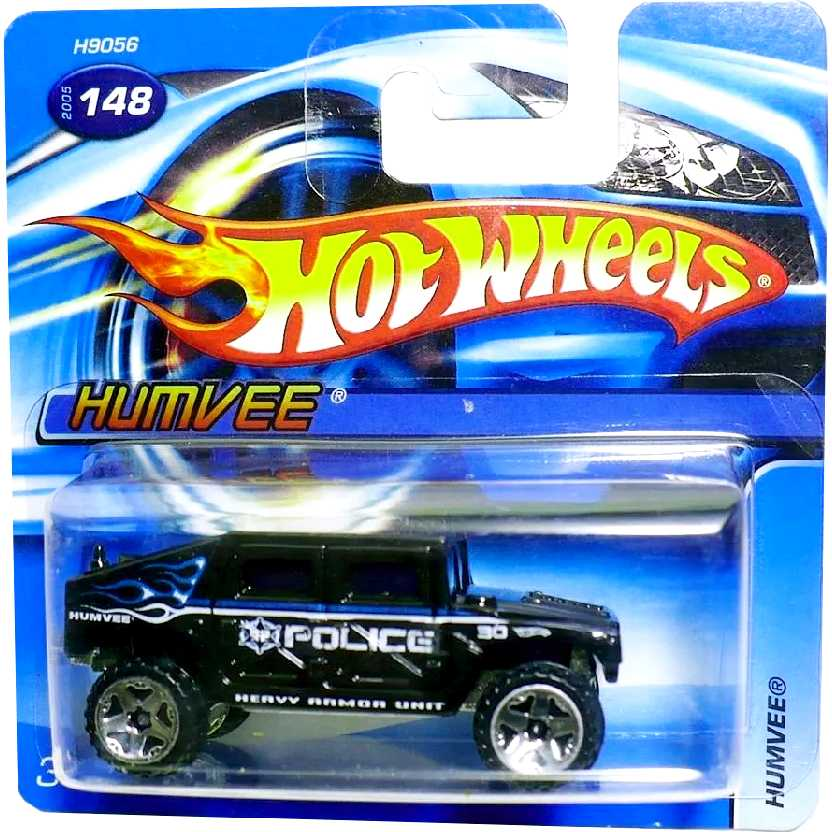 Coleção 2005 Hot Wheels Humvee Police Heavy Unit #148 H9056 escala 1/64
