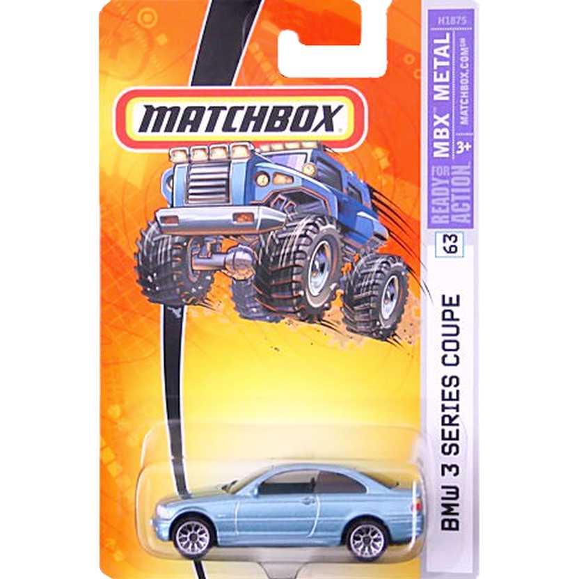 Coleção 2005 Matchbox BMW 3 series coupe número 63 H1875 escala 1/64