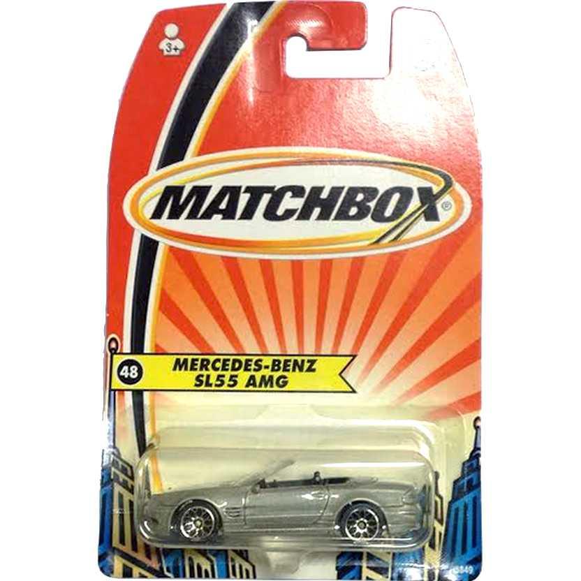 Coleção 2005 Matchbox Mercedes-Benz SL55 AMG escala 1/64 H5849