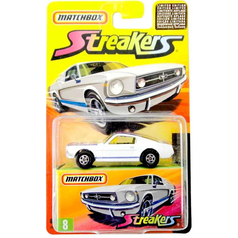Coleção 2005 Matchbox Streakers 1965 Ford Mustang GT #8 J6557 escala 1/64