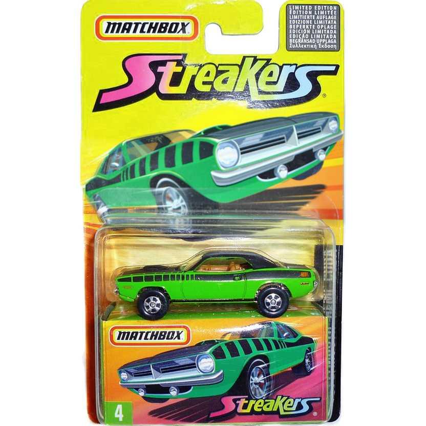 Coleção 2005 Matchbox Streakers Plymouth Hemi Cuda #4 J6553 escala 1/64