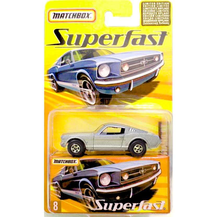 Coleção 2005 Matchbox Superfast 1965 Mustang GT #8 H7782 escala 1/64