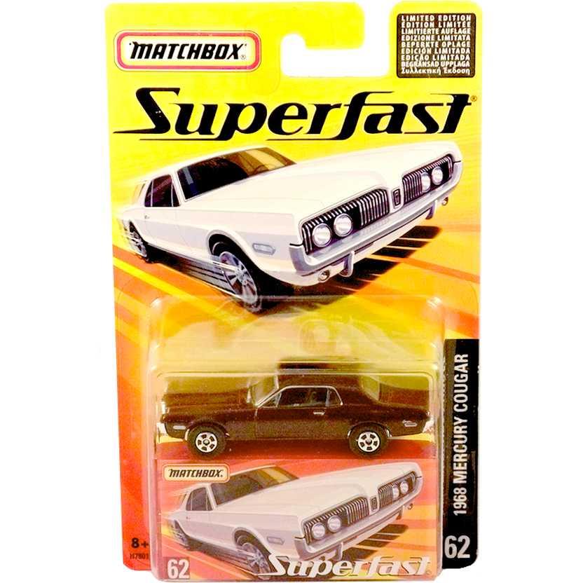 Coleção 2005 Matchbox Superfast 1968 Mercury Cougar #62 H7801 escala 1/64
