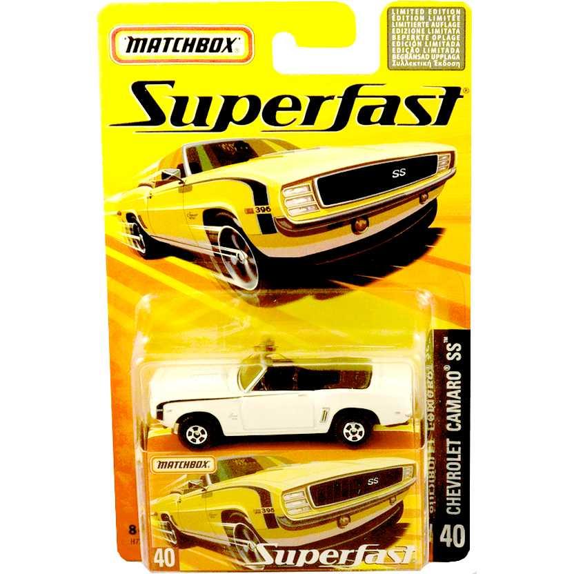 Coleção 2005 Matchbox Superfast 1969 Chevrolet Camaro SS #40 H7794 escala 1/64