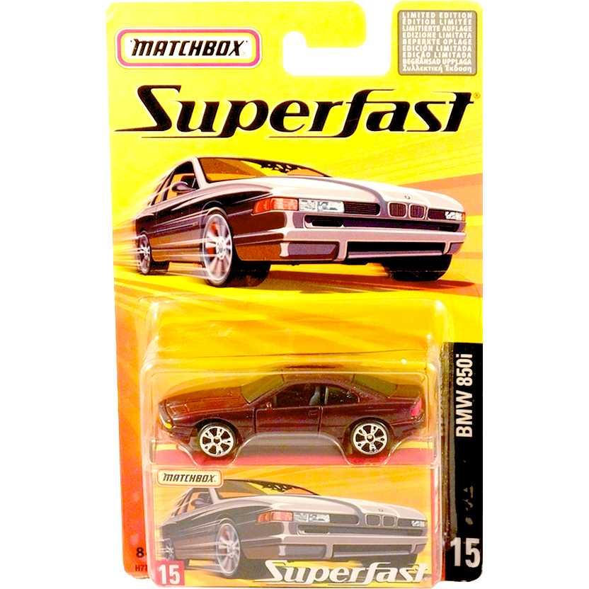 Coleção 2005 Matchbox Superfast BMW 850i #15 H7739 escala 1/64