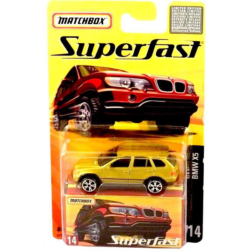 Coleção 2005 Matchbox Superfast BMW X5 #14 H7748 escala 1/64