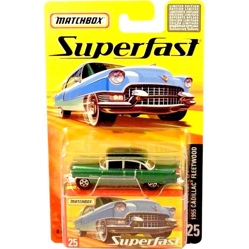 Coleção 2005 Matchbox Superfast Cadillac Fleetwood #25 H7767 escala 1/64