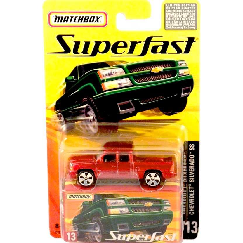 Coleção 2005 Matchbox Superfast Chevrolet Silverado SS #13 H7771 escala 1/64