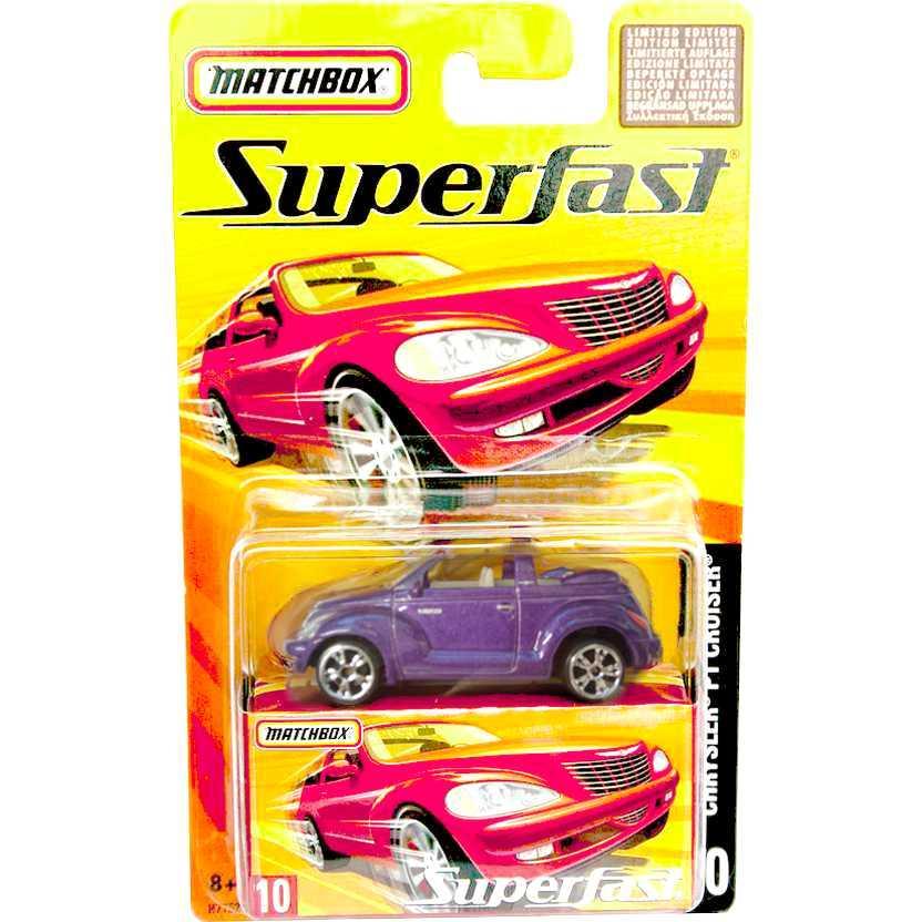 Coleção 2005 Matchbox Superfast Chrysler PT Cruiser conversível #10 H7752 escala 1/64