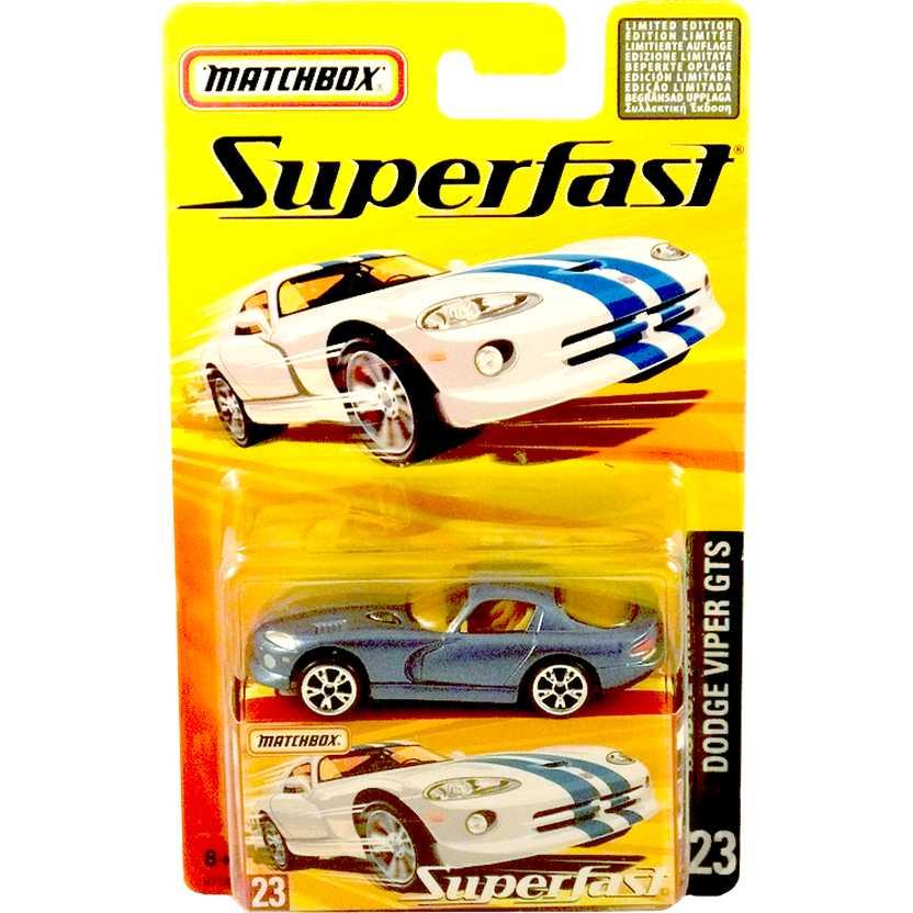 Coleção 2005 Matchbox Superfast Dodge Viper #23 H7743 escala 1/64