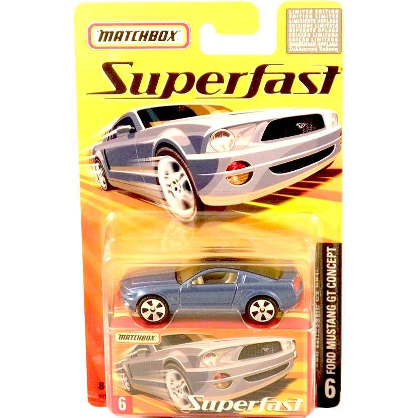 Coleção 2005 Matchbox Superfast Ford Mustang GT Concept H7798 escala 1/64