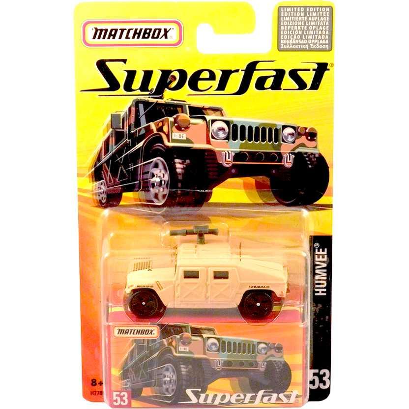 Coleção 2005 Matchbox Superfast HUMVEE #53 H7780 escala 1/64