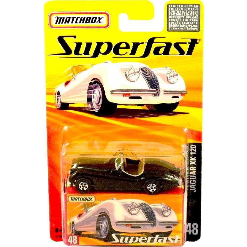 Coleção 2005 Matchbox Superfast Jaguar XK 120 preto #48 H7768 escala 1/64