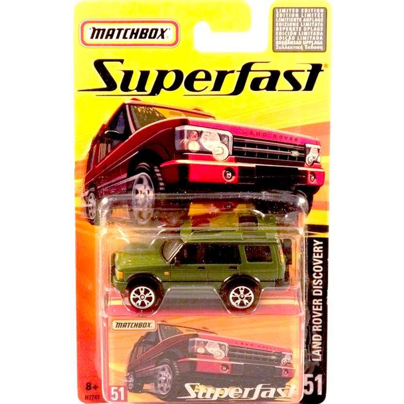 Coleção 2005 Matchbox Superfast Land Rover Discovery #51 H7741 escala 1/64