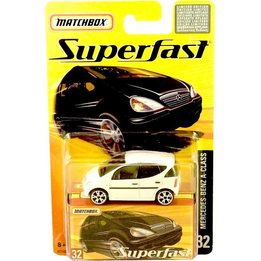 Coleção 2005 Matchbox Superfast Mercedes-Benz A-Class H7745 escala 1/64