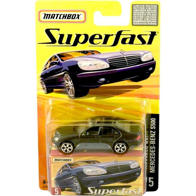Coleção 2005 Matchbox Superfast Mercedes-Benz S500 #5 H7738 escala 1/64
