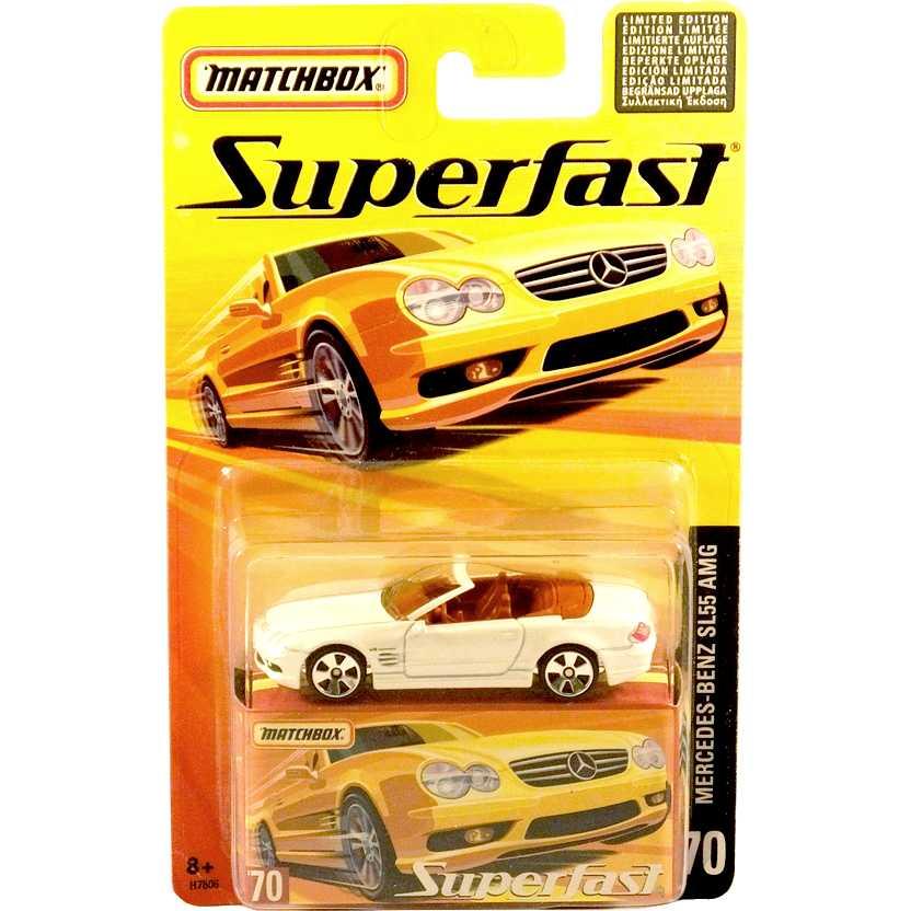 Coleção 2005 Matchbox Superfast Mercedes-Benz SL55 AMG #70 H7806 escala 1/64