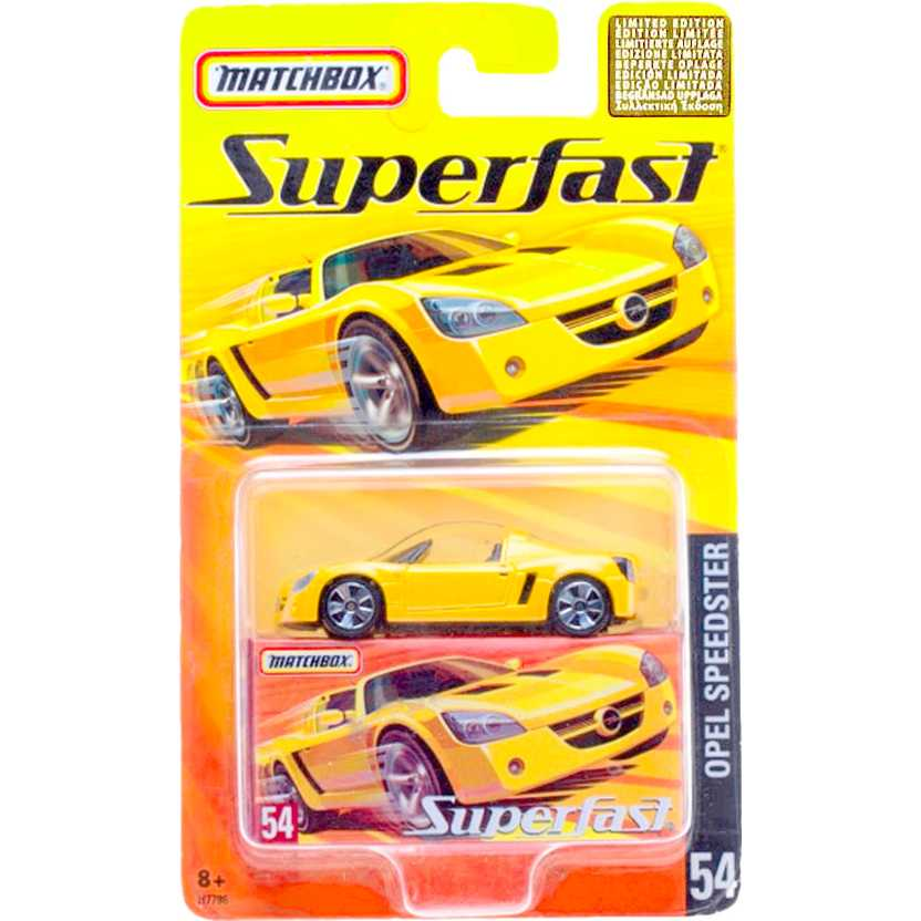 Coleção 2005 Matchbox Superfast Opel Speedster #54 H7786 escala 1/64