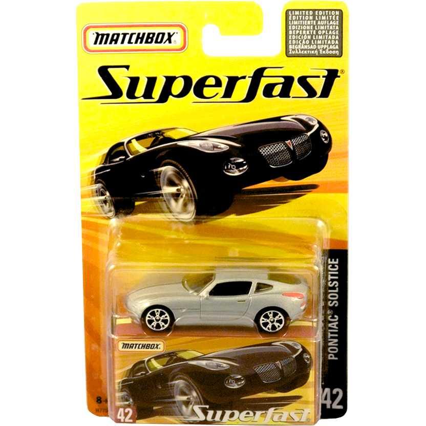 Coleção 2005 Matchbox Superfast Pontiac Solstice #42 H7754 escala 1/64