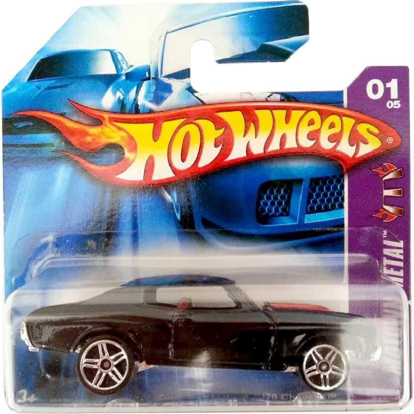 Coleção 2006 Hot Wheels 70 Chevelle SS preto series 01/05 086/223 J3412 escala 1/64