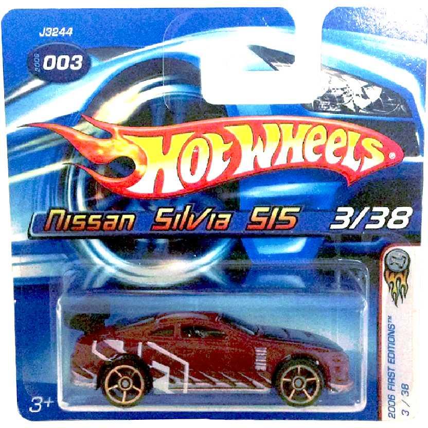 Coleção 2006 Hot Wheels Nissan Silvia S15 series 3/38 J3244 escala 1/64