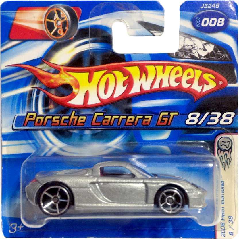 Coleção 2006 Hot Wheels Porsche Carrera GT series 8/38 J3249 escala 1/64