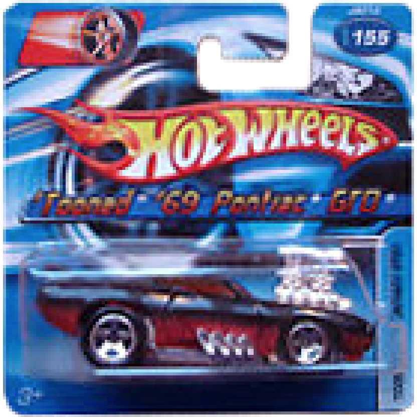 Coleção 2006 Hot Wheels Tooned 69 Pontiac GTO #155 J8012 escala 1/64