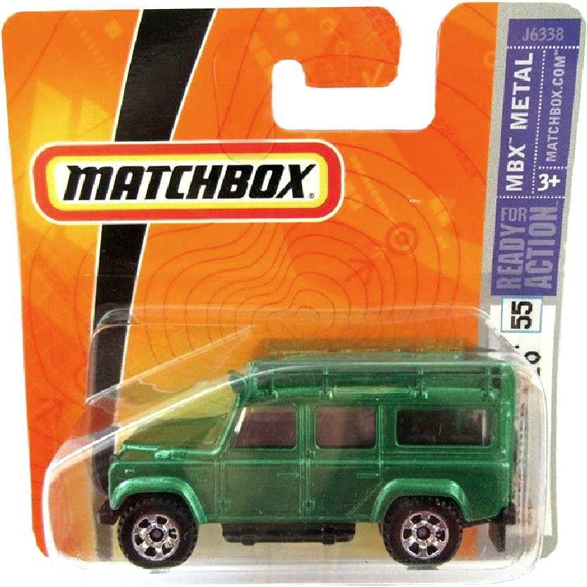 Coleção 2006 Matchbox 97 Land Rover Defender 110 series 55 J6338 escala 1/64