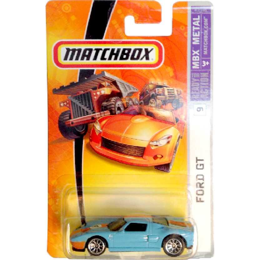 Coleção 2006 Matchbox Ford GT #9 K2596 escala 1/64 Raridade