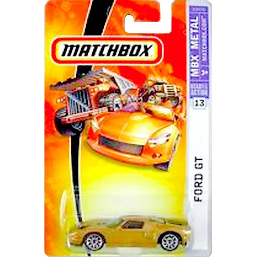 Coleção 2006 Matchbox Ford GT número 13 K9474 escala 1/64