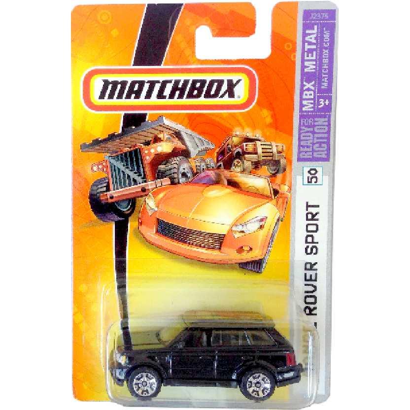 Coleção 2006 Matchbox Land Rover Range Rover Sport preto #50 J2375 escala 1/64