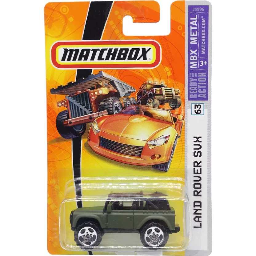 Coleção 2006 Matchbox Land Rover SVX series 63 J5596 escala 1/64