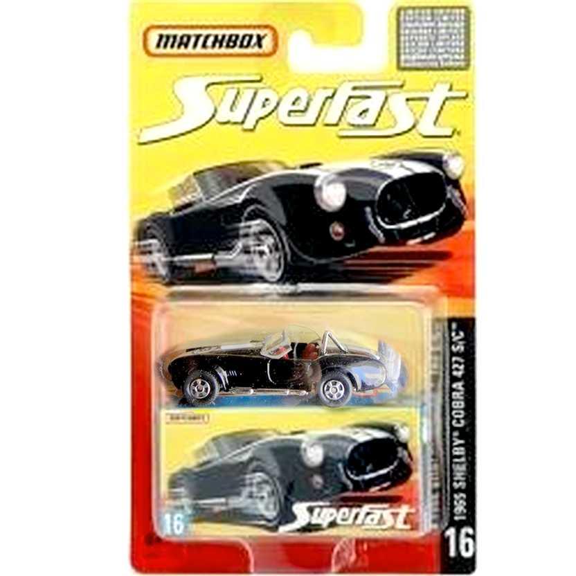 Coleção 2006 Matchbox Superfast 1965 Shelby Cobra 427 S/C #16 J6587 escala 1/64