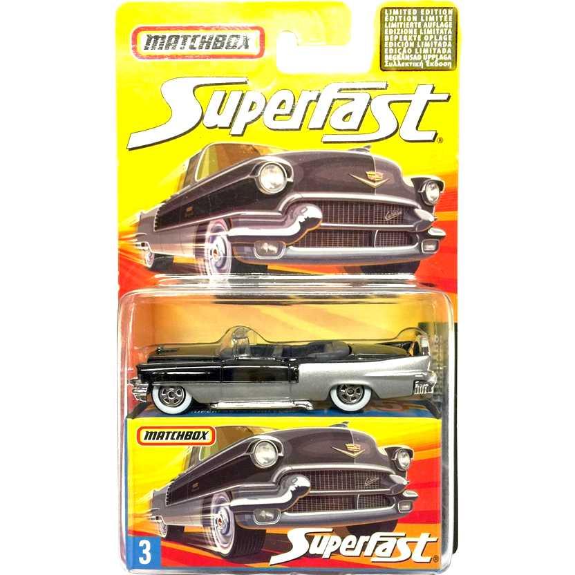 Coleção 2006 Matchbox Superfast Cadillac Eldorado #3 J6552 escala 1/64