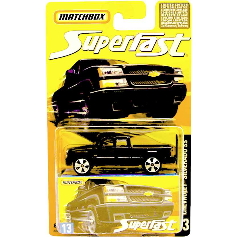 Coleção 2006 Matchbox Superfast Chevrolet Silverado SS #13 J6562 escala 1/64
