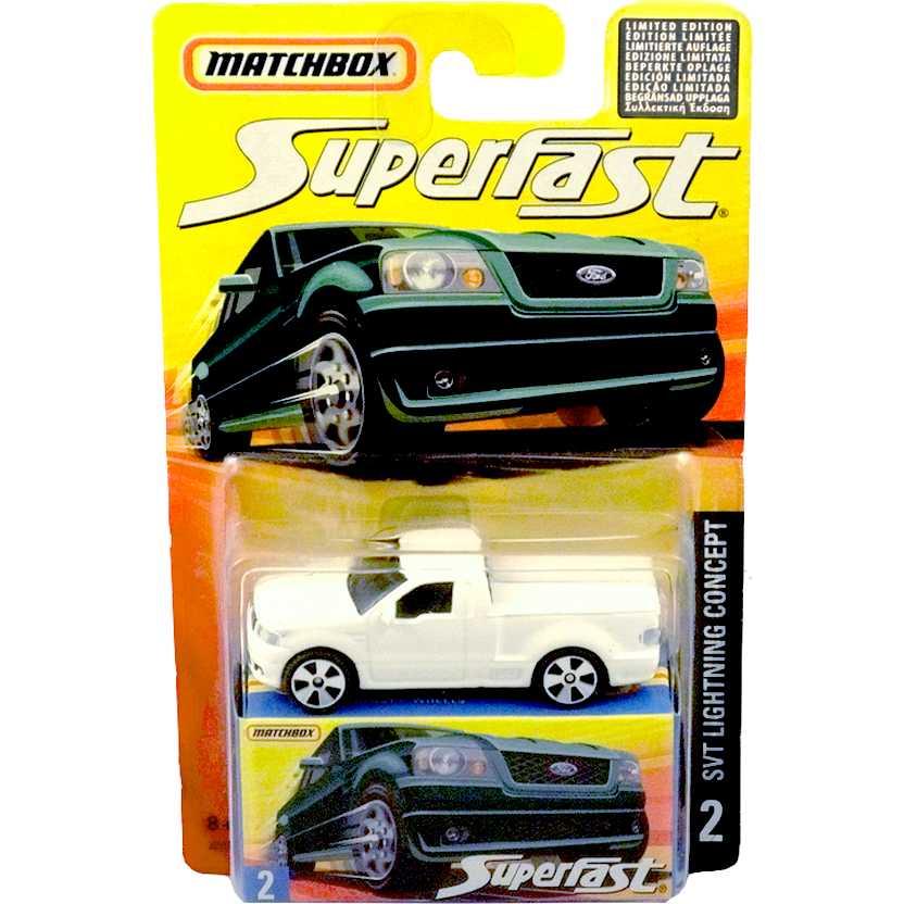 Coleção 2006 Matchbox Superfast Pickup SVT Lightning Concept #2 J6551 escala 1/64
