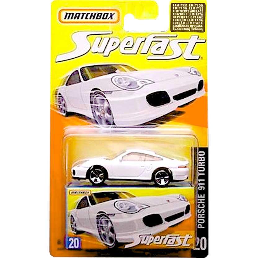 Coleção 2006 Matchbox Superfast Porsche 911 Turbo #20 J6569 escala 1/64